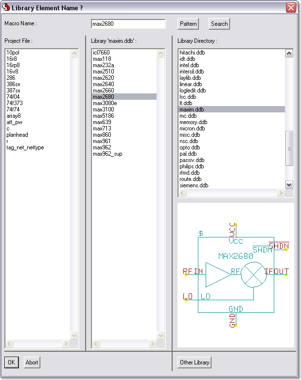 BAE Version 6.8: Schematic Editor: Symbol Preview