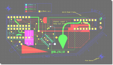 BAE Version 7.2: Layout Editor: View PCB Layout Solder Side
