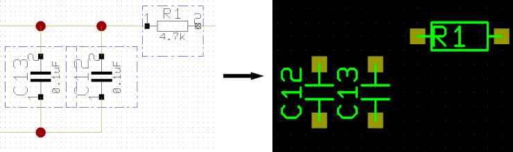 BAE HighEnd Version 7.6: Layout Editor - Layout Group Autoplacement according to Schematics